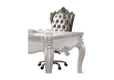 Versailles Silver PU & Antique Platinum Executive Office Chair