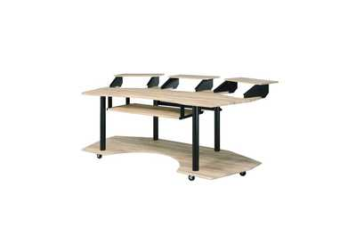 Image for Eleazar Natural Oak Computer Desk