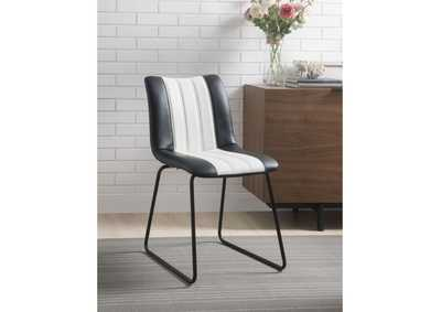 Image for Muscari Black/White PU & Black Accent Chair
