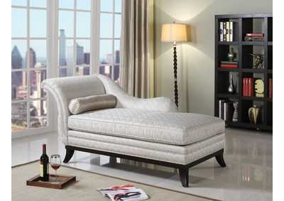 Image for Kimbra Beige Fabric & Dark Cherry Chaise