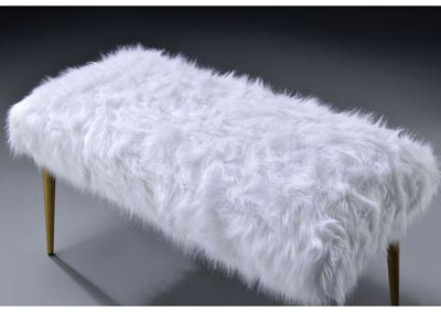 Bagley II White Bench,Acme