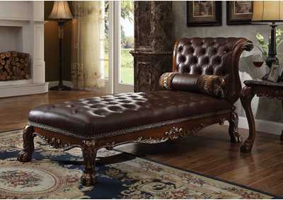 Image for Dresden PU & Cherry Oak Chaise