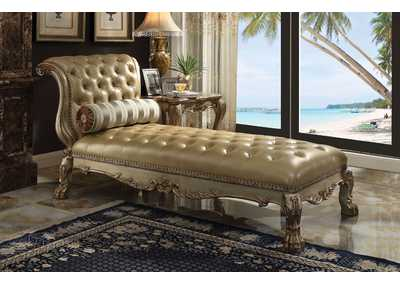 Image for Dresden Bone PU & Gold Patina Chaise