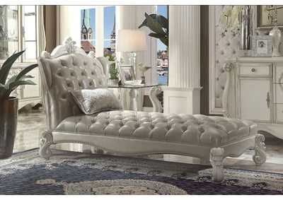 Versailles Gray/White Chaise & Pillow,Acme