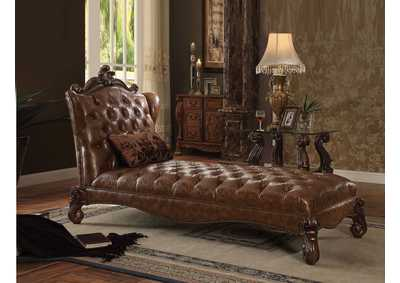 Versailles Cherry Oak Chaise w/Pillow