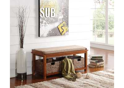 Image for Letha Walnut Storage Bench