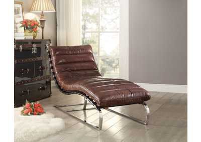 Qortini Brown Chaise