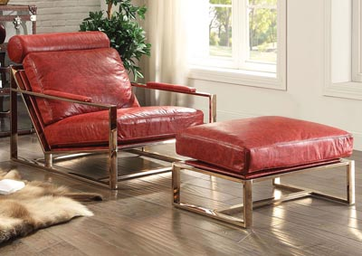 Image for Quinto Antique Red Accent Chair