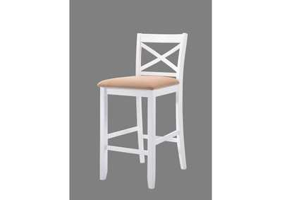 Tobie White Bar Chair (Set of 2)