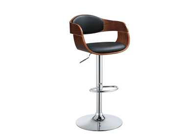 Camila Black/Walnut Adjustable Stool