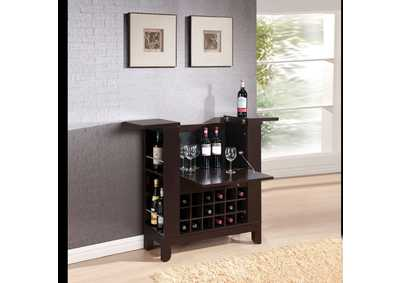 Image for Nelson Wenge Wine Cabinet w/Drawer