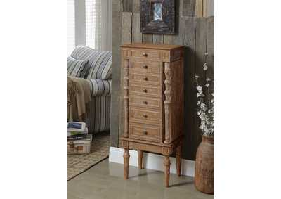 Image for Taline Weathered Oak Jewelry Armoire