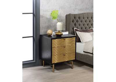 Image for Alston Black/Champagne Accent Table
