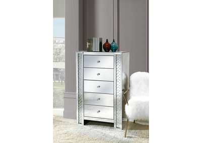Nysa Mirrored & Faux Crystals Chest,Acme