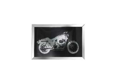 Image for Nevina Mirrored & Faux Crystal Bike Wall Art