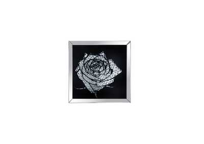 Image for Nevina Mirrored & Faux Crystal Rose Wall Art