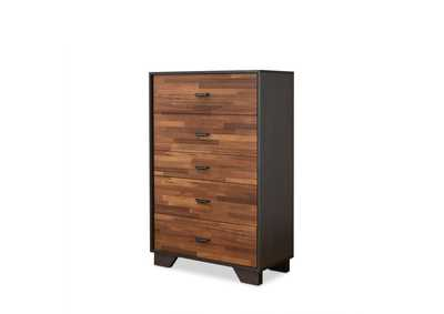 Eloy Walnut & Espresso Chest,Acme