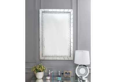 Image for Nysa Mirrored & Faux Crystals Wall Decor