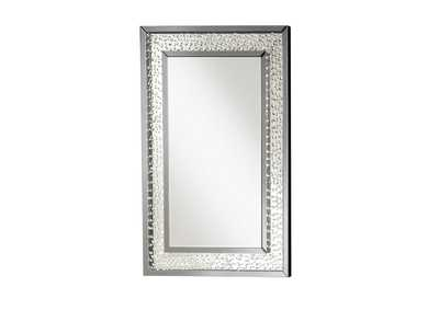Nysa Mirrored & Faux Crystals Wall Decor