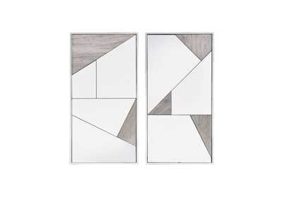 Image for Chafik Mirrored, Natural Oak & Chrome Wall Mirror