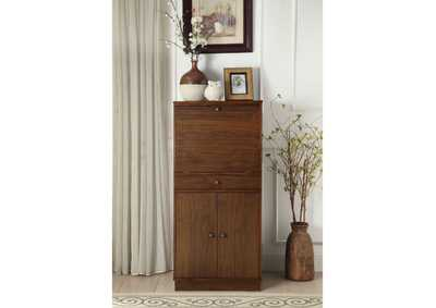 Wiesta Walnut Wine Cabinet