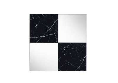 Image for Angwin Mirrored & Faux Marble Wall Mirror
