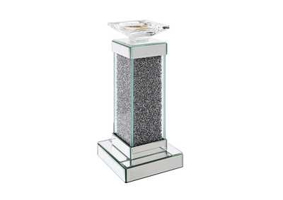Rekha Mirrored & Faux Crystals Accent Candleholder