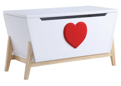 Padma White/Red Youth Chest