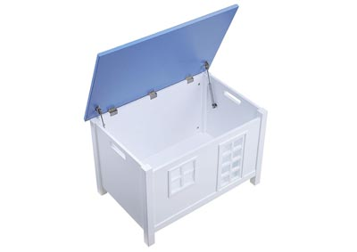 Doll Cottage White & Blue Youth Chest,Acme