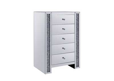 Noralie Mirrored & Faux Diamonds Chest,Acme
