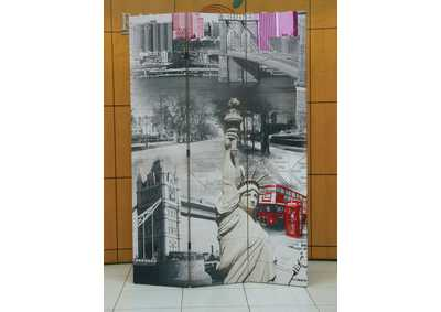 Image for Trudy Scenery 3 Panel Wooden Screen
