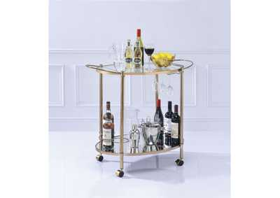 Zadok Champagne & Mirrored Serving Cart