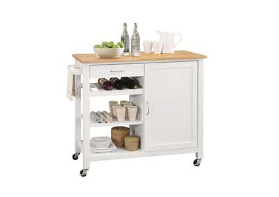 Ottawa Natural & White Kitchen Cart