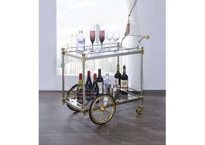 Cyrus Silver/Gold Serving Cart