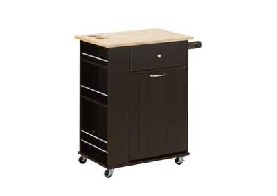 Zina Natural & Wenge Kitchen Cart