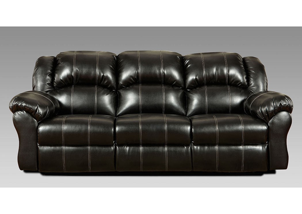 Taos Black Reclining Sofa,Affordable Furniture