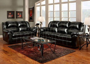 Image for Taos Black Reclining Loveseat