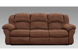 Image for Aruba Chocolate Power Reclining Sofa