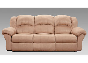 Image for Sensationas Camel Reclining Sofa