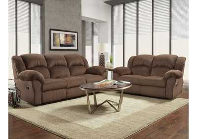Image for Aspen Chocolate Reclining Loveseat