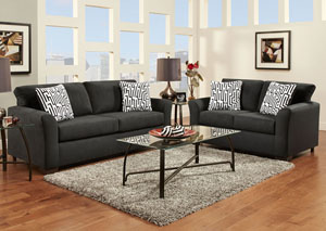 Image for Sensations Black Loveseat