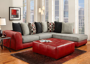 Image for Sierra Red Party Ottoman
