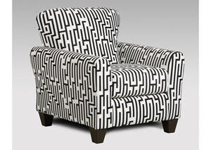 Image for Maze Black & White Accent Chair