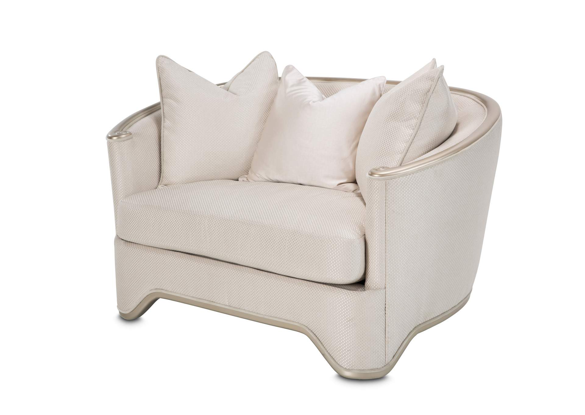 "LondonPlace""Matching Chair and Half""LtChampagne,AICO"