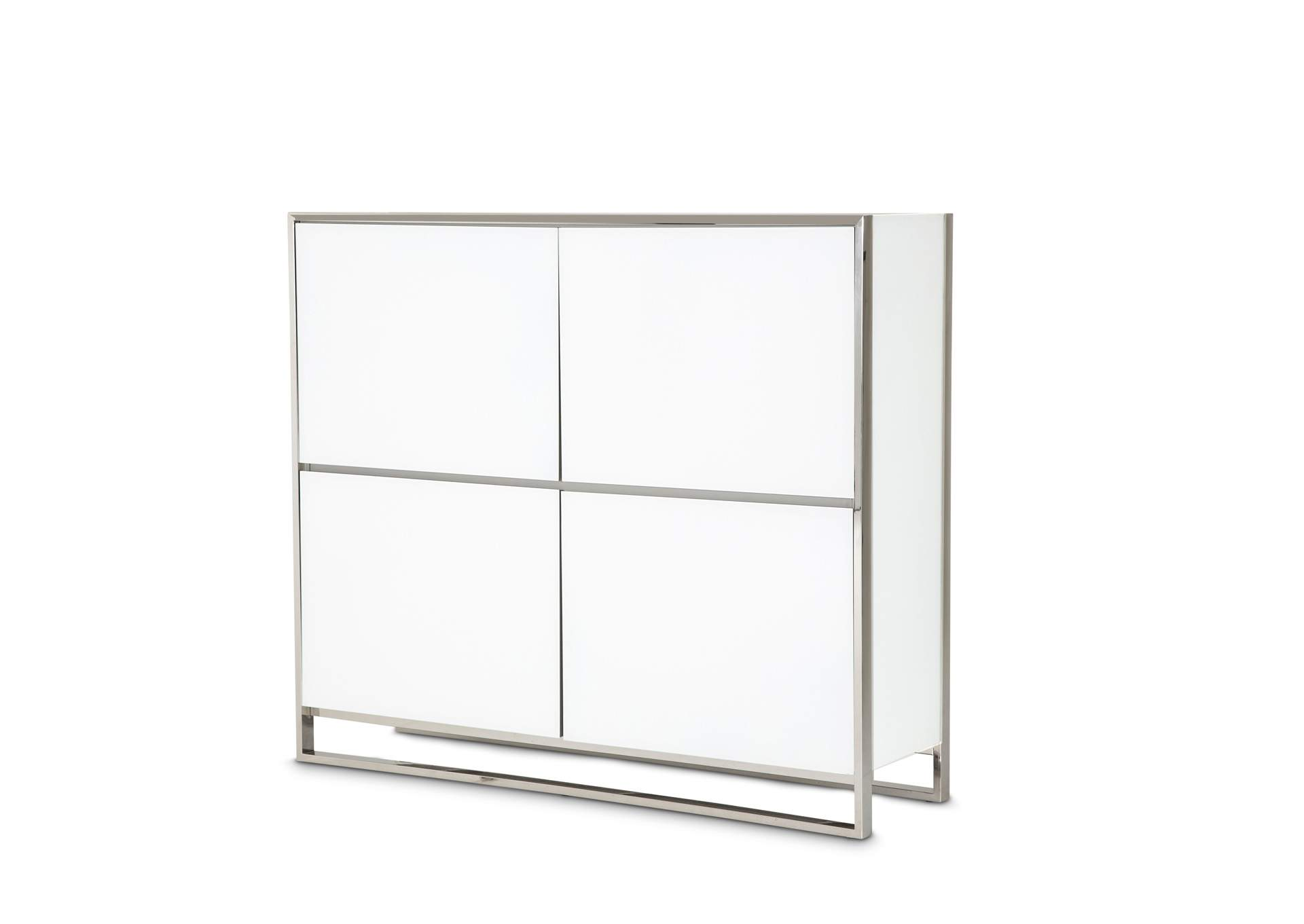 State St. Glossy White Accent Cabinet,AICO