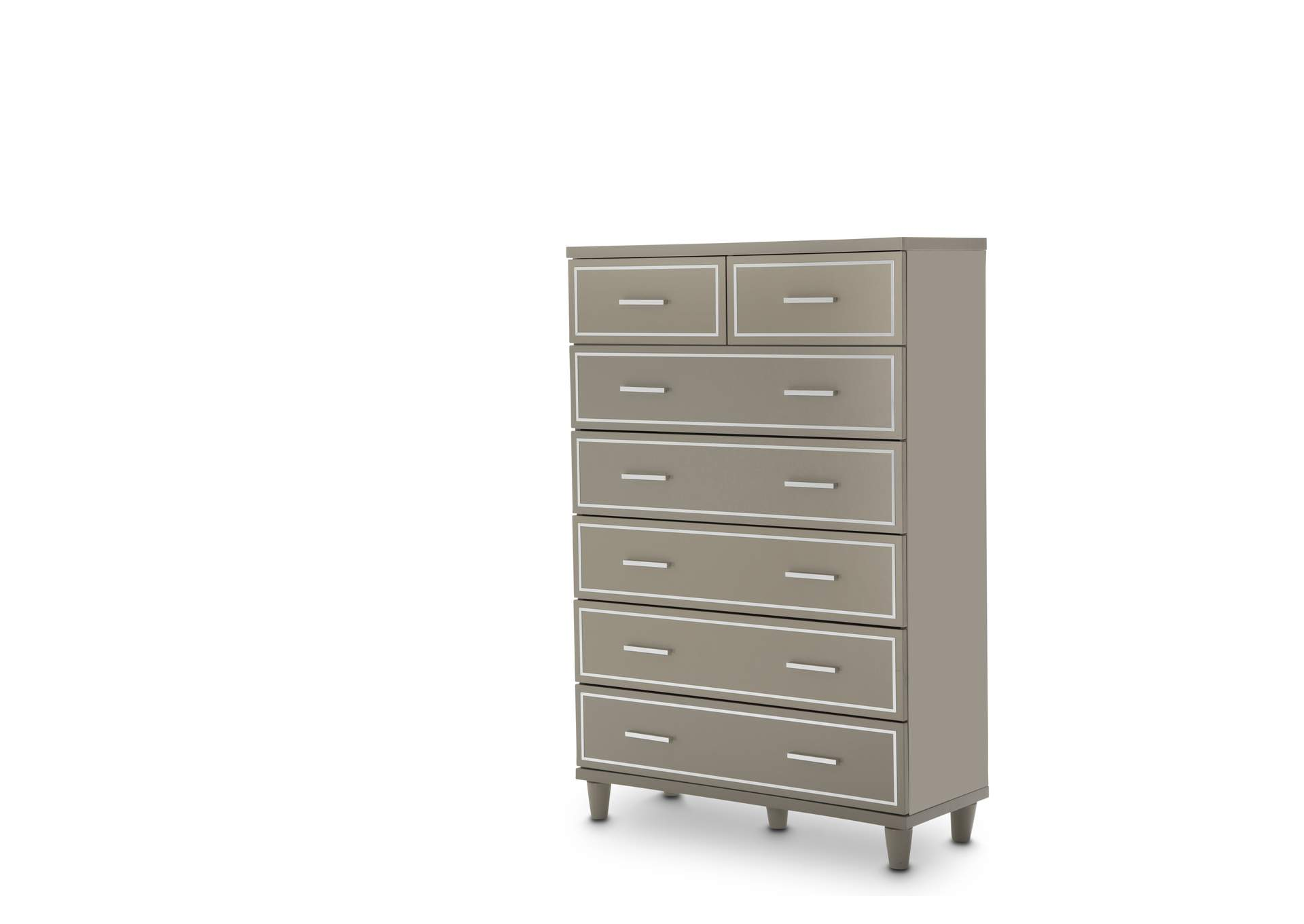 Urban Place Dove Grey Urban Place 7 Drawer Chest Dove Gray,AICO