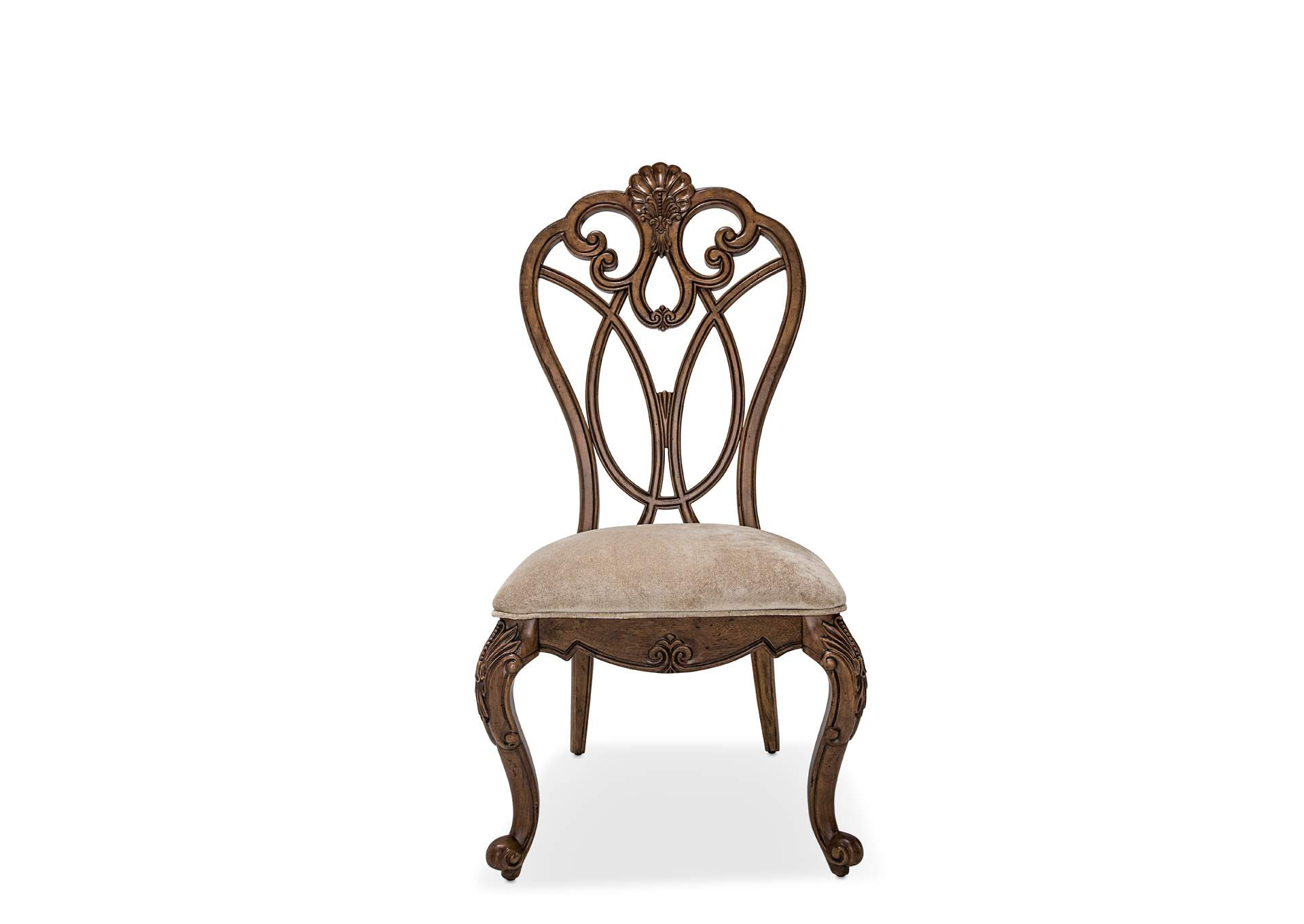 Eden's Paradise Ginger Wood Back Side Dining Chair [2/ctn],AICO