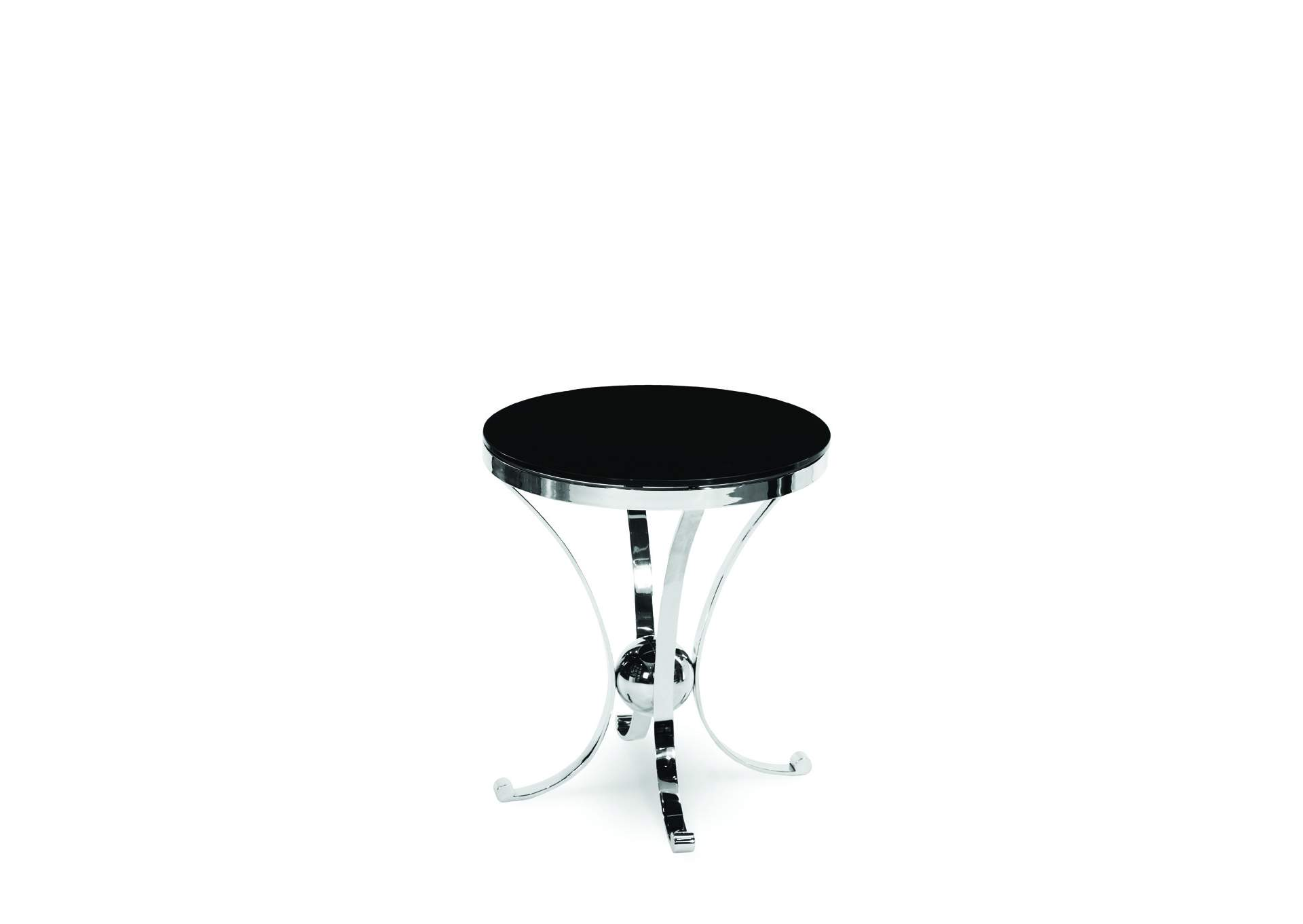 Discoveries Black Accent Round Glass Table,AICO