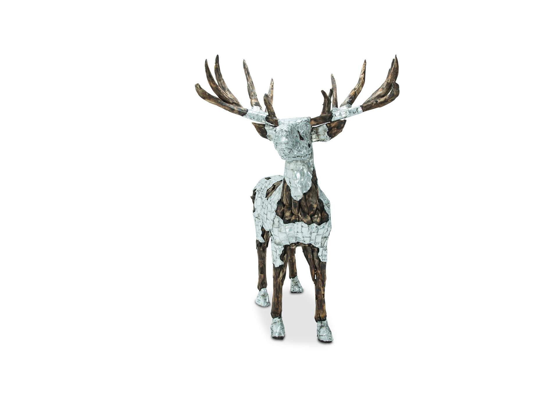 Discoveries Brown Large Deer w/Aluminum Body Coat,AICO