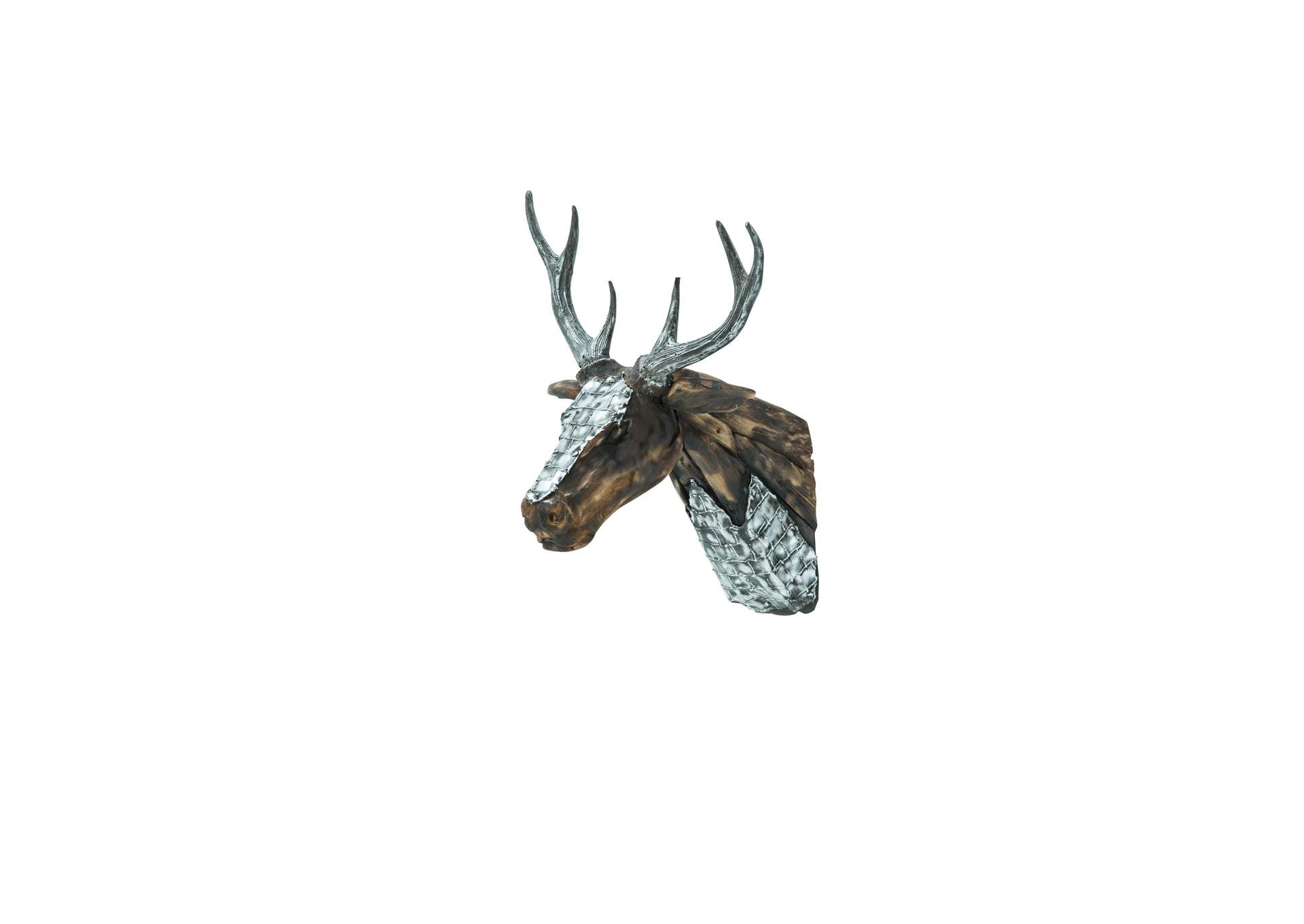 Deer Head w/Hand Applied Aluminum Antlers & Accents,AICO